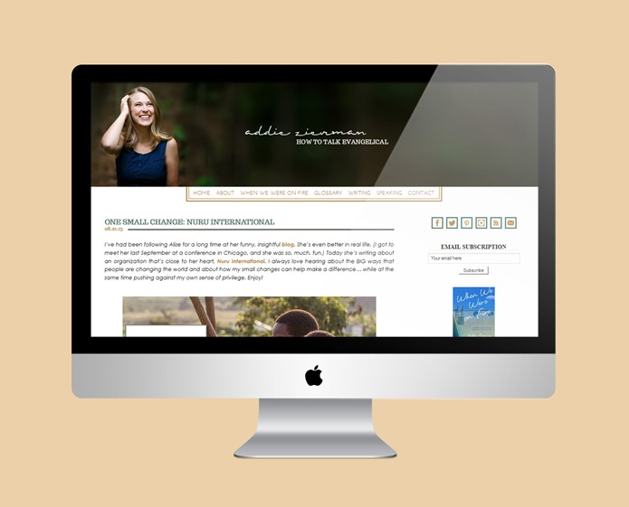 Addie Zierman : Blog + Business Cards : Hannah Rose Beasley