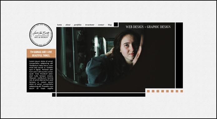 Hannah Rose Beasley Re-Brand: Idea