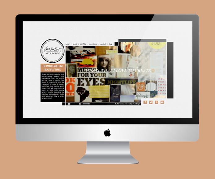 Hannah Rose Beasley Re-Brand: Final Site